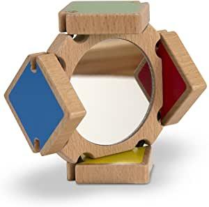 Espejo de madera para bebés